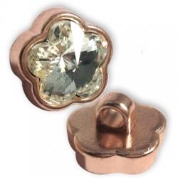Μεταλλικό Στοιχείο Λουλούδι Κρύσταλλο Περαστό 22mm (Ø3.5mm)