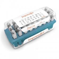 """Kit Poinçons police """"Deco"""" en minuscules 6mm ImpressArt (27pcs/paquet)"""