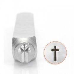 Μεταλλική Σφραγίδα Σταυρός Impress Art 6mm