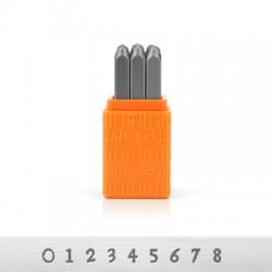 ImpressArt Basic Newsprint Number Stamps 3mm (9pcs/pack)