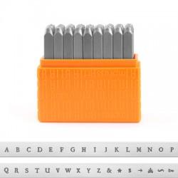 "Kit Punzoni Lettere ""Basic Newsprint"" Maiuscole 3mm ImpressArt (27pz/conf)"