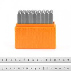 "Kit Punzoni Lettere ""Basic Newsprint"" Minuscole 3mm ImpressArt (27pz/conf)"