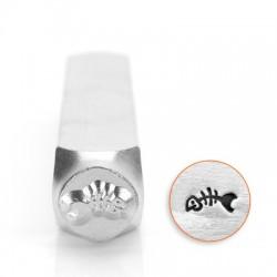 ImpressArt Fish Skeleton 6mm Design Stamp
