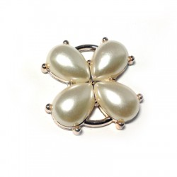 Acrylic Pearl Flower 31mm