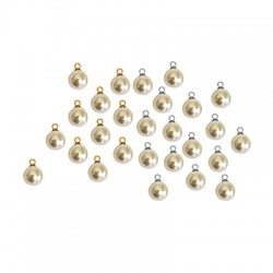 Pearl ABS Round w/ Cup 8mm