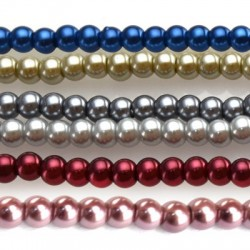 Glass Pearl Round 10mm (~42pcs/string)