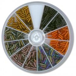 Γυάλινα Σωληνάκια Συσκευασία με 6 Ανάμεικτα Χρώματα 3mm