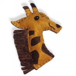 Fabric Giraffe 70x85mm