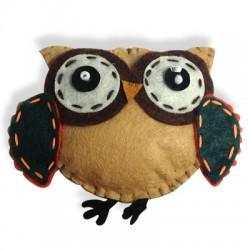 Fabric Owl 90x70mm