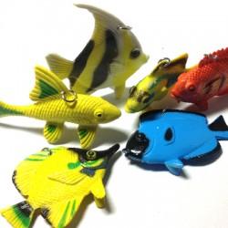 Καουτσούκ Μοτίφ Ψάρια (~60x60mm)