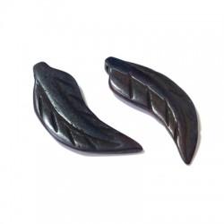 Ciondolo in Osso Piuma 28mm