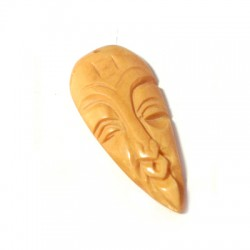 Pendentif Masque Africaine en Os 35mm