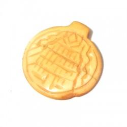 Ciondolo in Osso Rotondo con Disegno Etnico 35mm