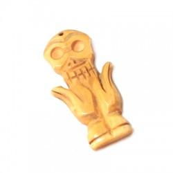 Bone Pendant Mask 30x48mm