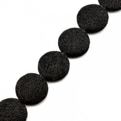 Sandlava Bead Round Flat 32mm/8mm