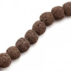 Perlina di Pietra Lavica 8mm (~52pz/filo)
