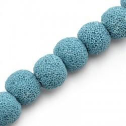 Perlina di Pietra Lavica 12mm (~37pz/filo)