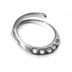 Ασήμι 925 Δαχτυλίδι Βάση με 5 Τρύπες