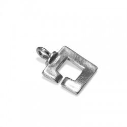 Chiusura a Gancio Quadrata in Argento 925 18mm
