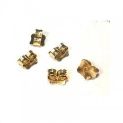 Ασήμι 925 Πεταλούδα Κούμπωμα για Σκουλαρίκι 5x5mm