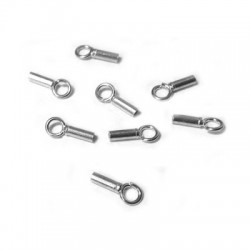 Silver 925 Clasp Tube 1mm