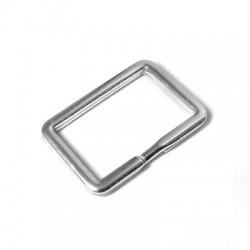 Portachiavi Quadrato in Argento 925 35x25mm
