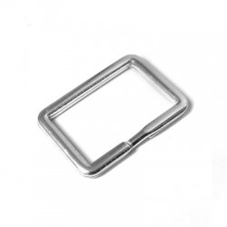 Silver 925 Keyring Square 35x25mm