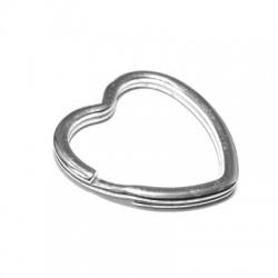 Ασήμι 925 Κρίκος Μπρελόκ Καρδιά 35mm