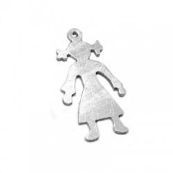 Ασήμι 925 Μοτίφ Κορίτσι 13x24.5mm