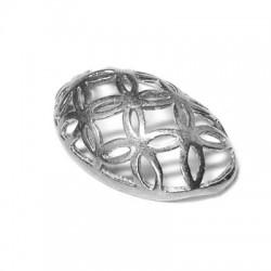 Ciondolo in Argento 925 Uovo Decorato 20x32mm