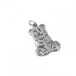 Silver 925 Bear 13x25mm