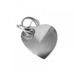 Silver 925 Heart 2 Rings 23mm