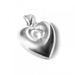Ασήμι 925 Μοτίφ Καρδιά 30mm
