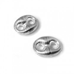 Connettore in Argento 925 Ovale 17x3mm