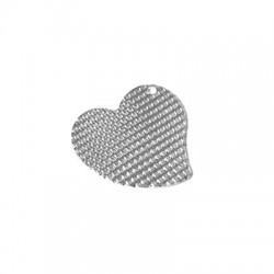 Ασήμι 925 Μοτίφ Καρδιά 18mm