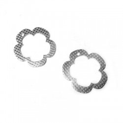 Charm in Argento 925 Fiore 18mm