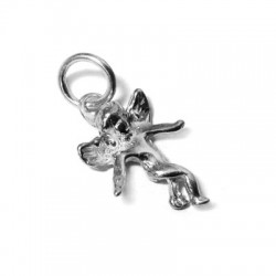 Charm in Argento 925 Angelo 15x11mm