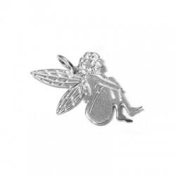 Silver 925 Fairy 28x18mm