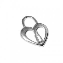 Ασήμι 925 Μοτίφ Καρδιά 25x30mm