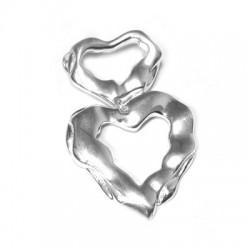 Ασήμι 925 Στοιχείο Καρδιά Διπλή 36x55mm