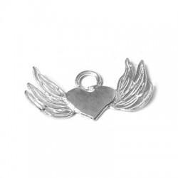 Ασήμι 925 Μοτίφ Καρδιά με Φτερά 25mm
