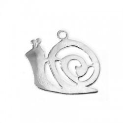Silver 925 Snail 25x27mm