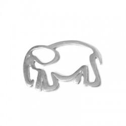 Silver 925 Elephant 38x28mm