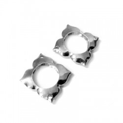 Silver 925 Flower Square 14mm