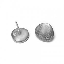 Perno per Orecchino in Argento 925 Rotondo 11mm