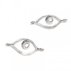 Silver 925 Connector Charm Eye 16x10