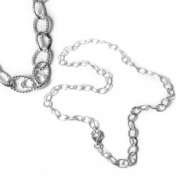 Silver 925 Semi-finished Necklace 42cm
