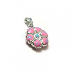 Silver 925 Enamel Flower 15mm