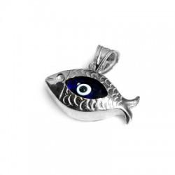 Charm in Argento 925 Pesce con Occhio 10x20mm
