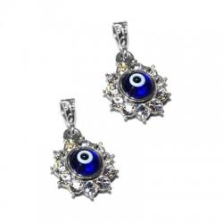 Silver 925 Eye With Swarovski  flower 13mm